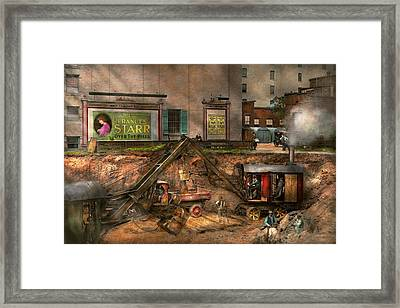 Construction - It Pays To Flirt 1916 Framed Print by Mike Savad