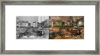 Construction - It Pays To Flirt 1916 - Side By Side Framed Print by Mike Savad