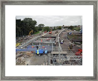 Construction Framed Print by Martin Billings