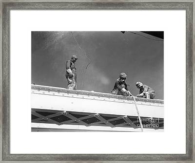 Construction Of The Triborough Bridge Framed Print by H. Armstrong Roberts/ClassicStock