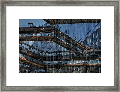 Framed Print featuring the photograph Construction Window Reflections #2 - Washington by Stuart Litoff