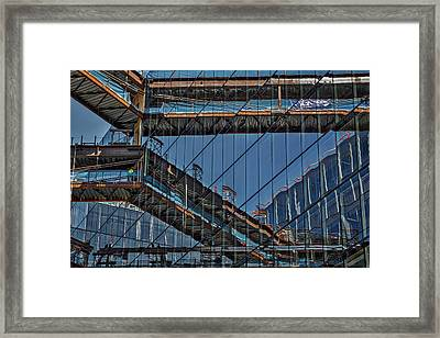 Framed Print featuring the photograph Construction Window Reflections - Washington by Stuart Litoff