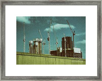 Construction Works In Stratford Framed Print by Jasna Buncic