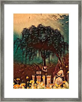 Consulting The Mother Framed Print