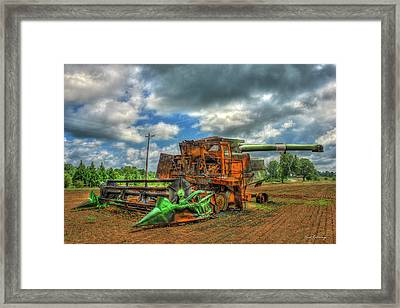 Consumed By Fire The Wheat Field Fire Art Framed Print