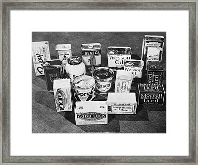 Consumer Cooking Oils Framed Print by Alfred Palmer