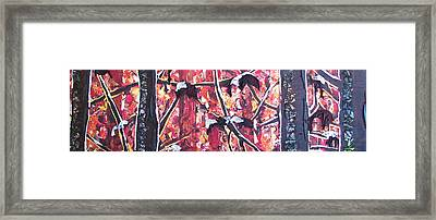 Consumer Forest Fire Framed Print by Alicia  LaRue