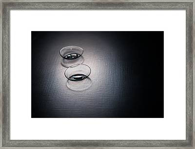 Contact Lenses Framed Print by Ondrej Supitar