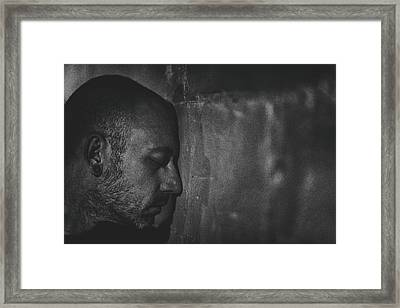 Contain The Darkness Framed Print