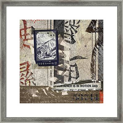 Container Is In Motion Framed Print by Carol Leigh