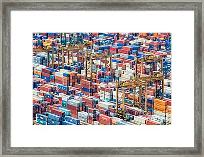 Containers Framed Print by Delphimages Photo Creations