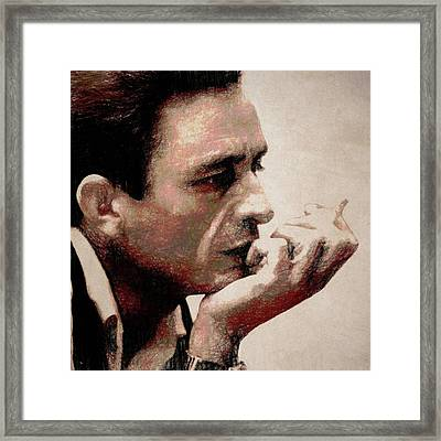 Contemplating Cash Framed Print by Dan Sproul