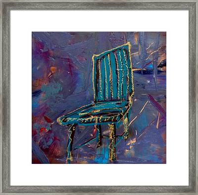 Contemplating Chair#4  Framed Print