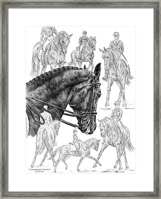 Contemplating Collection - Dressage Horse Drawing Framed Print by Kelli Swan