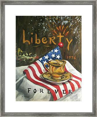 Contemplating Liberty Framed Print by Cheryl Pass