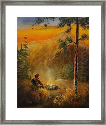 Contemplating The Journey Framed Print