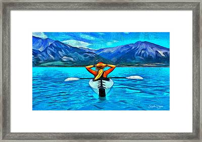 Contemplating The Paradise - Pa Framed Print