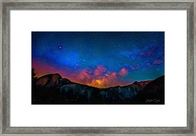 Contemplating The Via Lactea - Da Framed Print