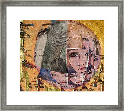 Contemplating Women - Through The Looking Glass Framed Print by Jeff Burgess