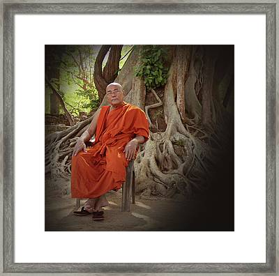 Contemplation Framed Print by Ajithaa Edirimane