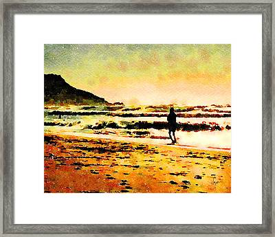 Framed Print featuring the painting Contemplation by Angela Treat Lyon