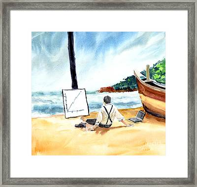 Contemplation Framed Print by Anil Nene