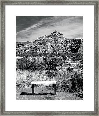 Contemplation Bench Bw Framed Print