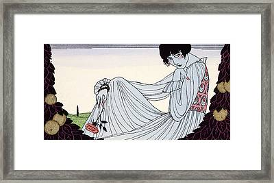 Contemplation Framed Print by Georges Barbier