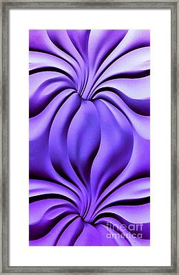 Framed Print featuring the photograph Contemplation In Purple by Roberta Byram