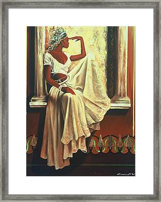 Contemplation Framed Print by Lee Ransaw