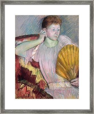 Contemplation Framed Print by Mary Stevenson Cassatt