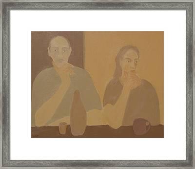 Contemplation Framed Print by Renee Kahn