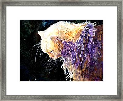 Framed Print featuring the painting Contemplation by Sherry Shipley