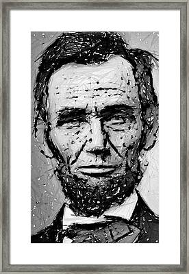Contemplative Abe Lincoln Framed Print by Daniel Hagerman