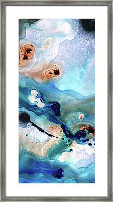 Framed Print featuring the painting Contemporary Abstract Art - The Flood - Sharon Cummings by Sharon Cummings