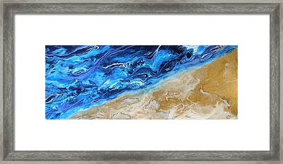 Contemporary Abstract Beach Nacl Framed Print by Halcyon Fineart
