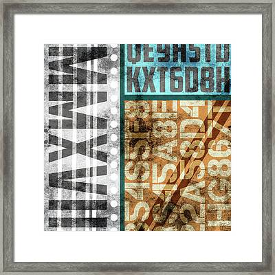 Contemporary Abstract Industrial Art - Distressed Metal - Mmxvii Framed Print