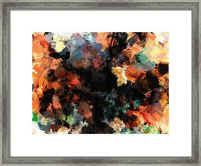 Contemporary Abstract Painting Framed Print by Ayse Deniz