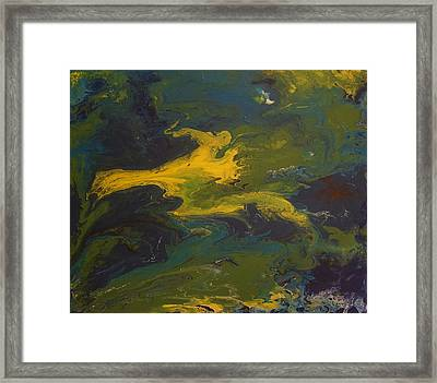 Contemporary Abstract Painting -  Goldilocks Zone Terrain No 2 Framed Print