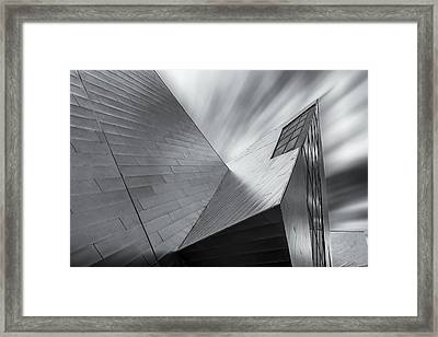 Contemporary Architecture Of The Shops At Crystals, Aria, Las Ve Framed Print by Adam Romanowicz