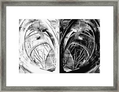 Contemporary Art - Black And White Embers 1 - Sharon Cummings Framed Print by Sharon Cummings