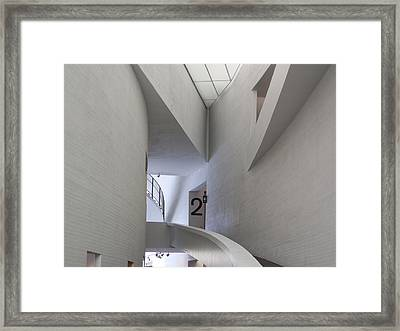 Contemporary Art Museum Interior Framed Print