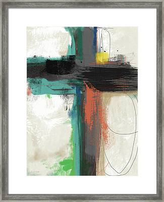 Contemporary Cross 2- Art By Linda Woods Framed Print