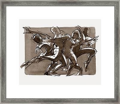 Contemporary Dance Quartet - Lucky Plush, Chicago Framed Print