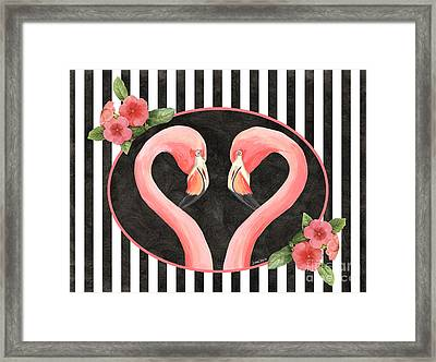 Contemporary Flamingos 1 Framed Print