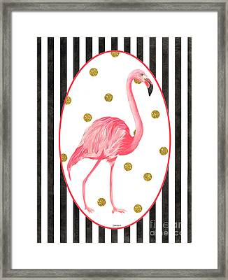 Contemporary Flamingos 2 Framed Print
