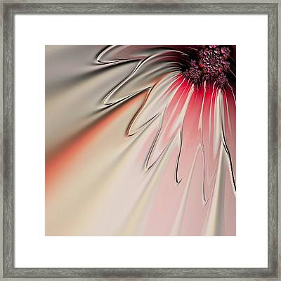 Framed Print featuring the digital art Contemporary Flower by Bonnie Bruno