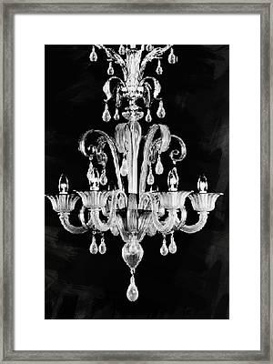 Contemporary Glass Chandelier Framed Print by Art Spectrum