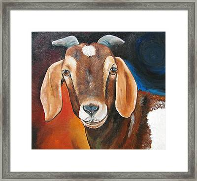 Contemporary Goat Framed Print by Laura Carey