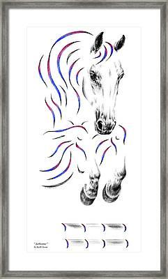 Contemporary Jumper Horse Framed Print